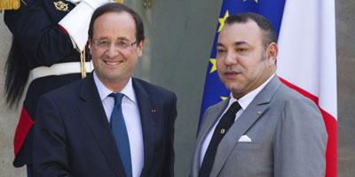Arrivée au Maroc du président français François Hollande