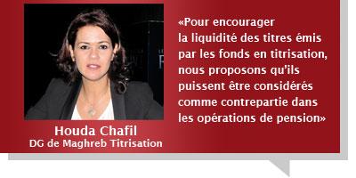 Houda Chafil : Avant même la nouvelle loi, des mesures pour encourager la titrisation sont prévues en 2013