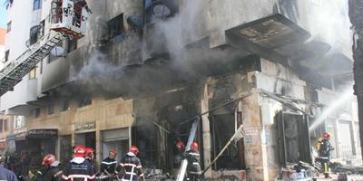 EN PHOTOS – Casablanca : Un incendie dans une droguerie cause d'importants dégà¢ts