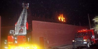 Dégà¢ts matériels dans un incendie d'usine à Had Soualem (province de Berrechid)
