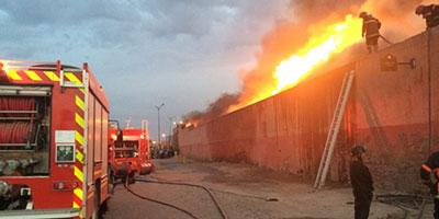 Incendie dans un atelier de réparation automobile à Marrakech, pas de victimes