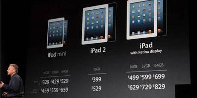 Apple lance un «iPad mini» pour contrer les tablettes rivales moins chères