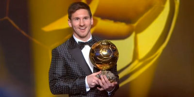 FIFA Ballon d'Or 2012 : le quadruplé pour Lionel Messi !