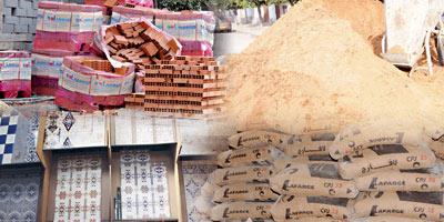 Matériaux de construction : la demande en baisse à deux chiffres
