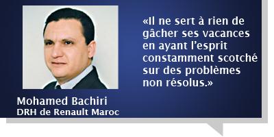 Mohamed Bachiri : «Les départs en congé sont fixés 3 à 4 mois à l'avance»