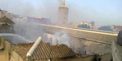 La grande Mosquée de Taroudant ravagée complètement par un gigantesque incendie