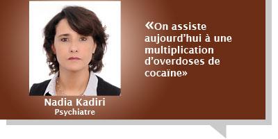 Nadia Kadiri : Â«On assiste aujourd'hui à une multiplication d'overdoses de cocaïne»