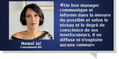 Nawal Jai : Â«Malaise, effritement du lien social, perte de confiance…, les effets de la rumeur sont dévastateurs»
