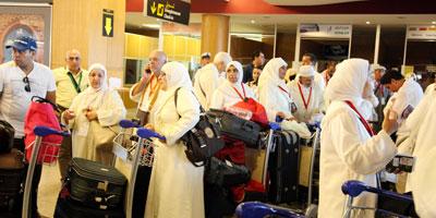 Départ du premier groupe de pèlerins marocains à destination des Lieux Saints de l'islam pour accomplir le rite du pèlerinage pour l'année 1436