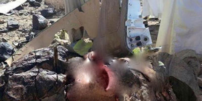 Yémen: les photos du corps du pilote du F-16 marocain