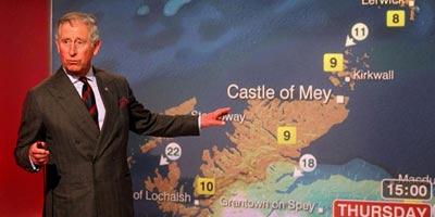 Le prince Charles présente la météo sur la BBC  en Ecosse