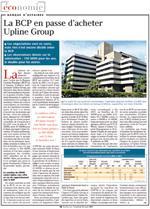 La BCP regroupe ses activités de banque d'investissement au sein d'Upline