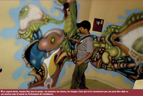 Aouina, le peintre qui parle aux murs