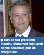 Mohamed Sajid délègue ses pouvoirs au compte-gouttes