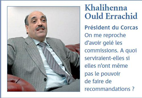 Khalihenna Ould Rachid : Le Corcas est un Conseil royal consultatif et non une collectivité locale