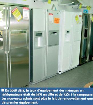 Réfrigérateurs et congélateurs échappent à l'effet de crise : 450 000 unités vendues en 2009