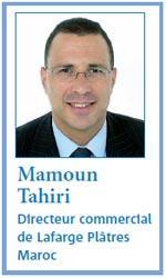 Commerciaux, les bonnes recettes qui font vendre : Entretien avec Mamoun Tahiri, Directeur commercial de Lafarge Plà¢tres Maroc