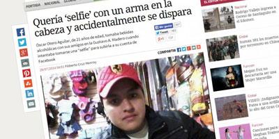Un jeune Mexicain de 21 ans se flingue en faisant un selfie !