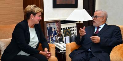 M. Benkirane s'entretient avec la ministre italienne du Développement économique