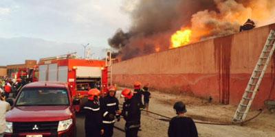 Marrakech : Un violent incendie ravage des dizaines de baraques à souk Lakhmis
