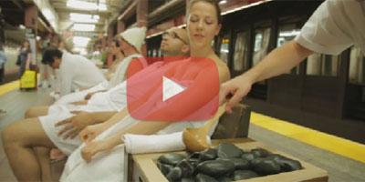 Un spa éphémère dans le métro de New York ?