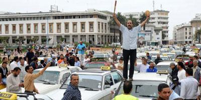 Les chauffeurs de taxi manifestent à Casablanca pour dénoncer l'augmentation du prix de gasoil