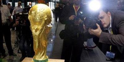 Arrivée au Maroc du trophée de la Coupe du monde de football
