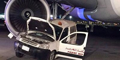 Collision entre un avion et une voiture de la RAM à l'aéroport de Djeddah !