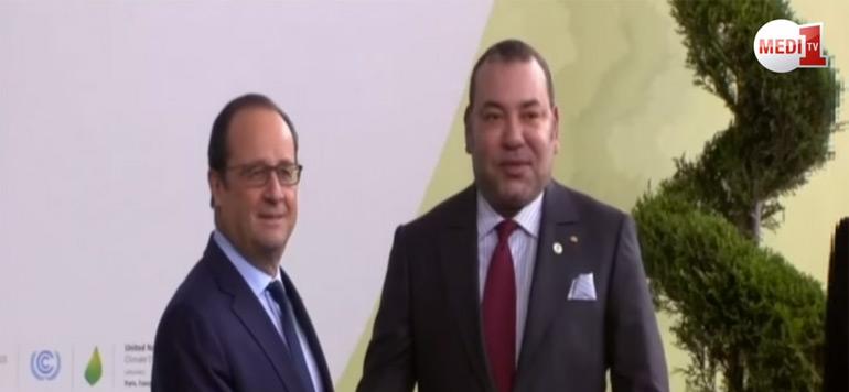 Paris : Arrivée de SM le Roi sur le site de la COP 21