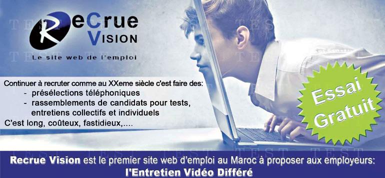 Recrue vision lance l'entretien vidéo différé
