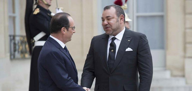 Vidéo : l'arrivée du Roi Mohammed VI au palais de l'élysée