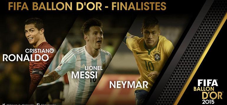 Ballon d'Or – Neymar prend date aux côtés de Messi et Ronaldo