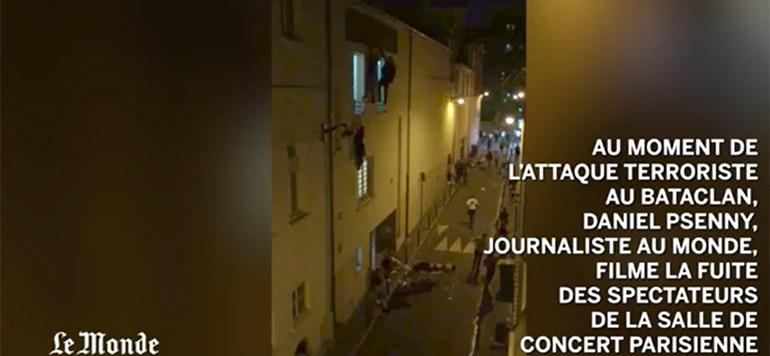 Vidéo : Un témoin a filmé la fusillade du Bataclan