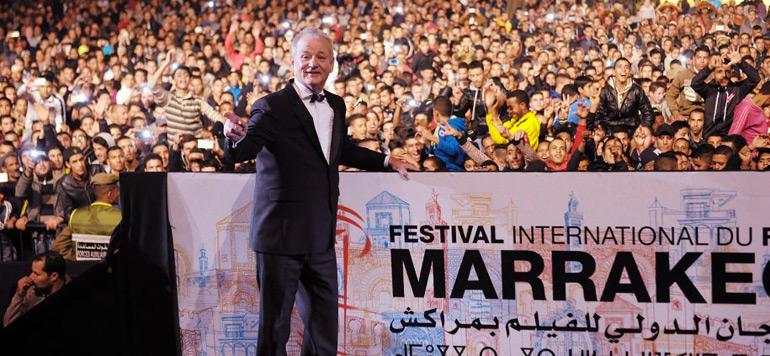 Vidéo : Bill Murray célébré à Jamaa El Fna