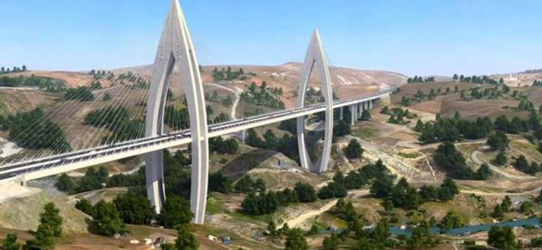 En vidéo-Rabat : les travaux du plus grand pont à haubans en Afrique avancent