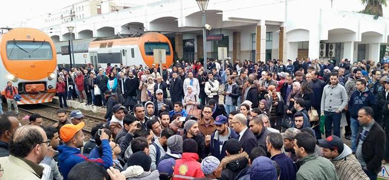 ONCF : trafic des trains perturbé à cause de manifestations