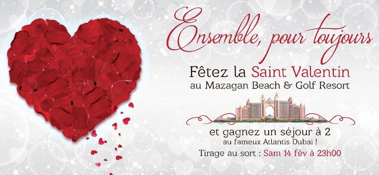 Offre Saint-Valentin au Mazagan