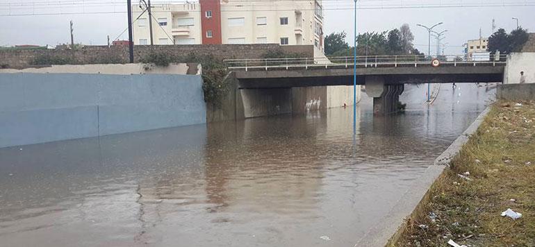 Vidéo : Mohammedia inondée sous la pluie