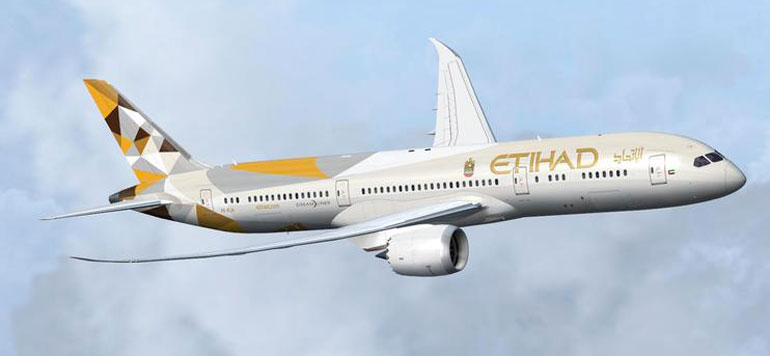 Aérien : Le 787-9 Dreamliner d'Etihad Airways à Casablanca