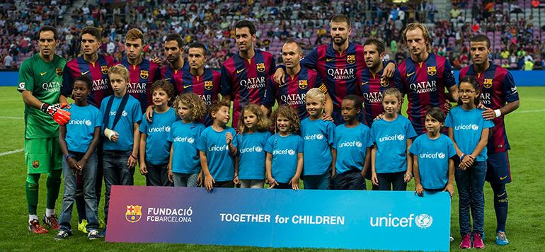 Le Fc Barcelone Et L Unicef Lies Jusqu En 2020 La Vie Eco