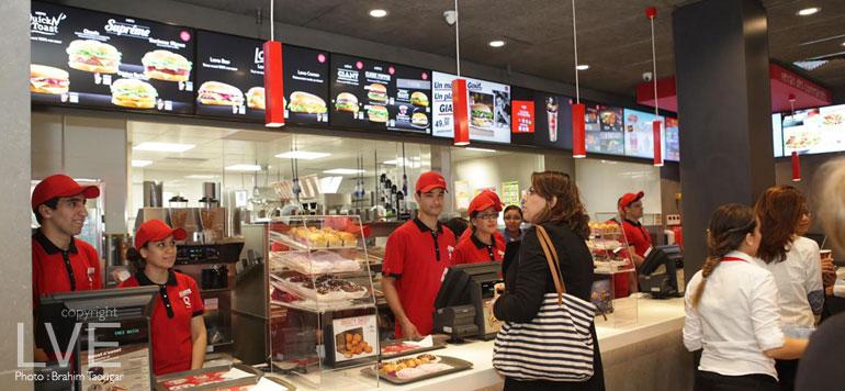 Le 2e restaurant quick ouvre ses portes casablanca for Salon du fast food