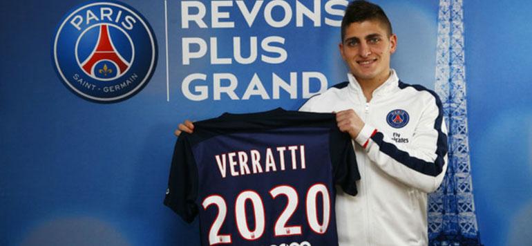 Foot : Verratti prolonge au PSG jusqu'en 2020
