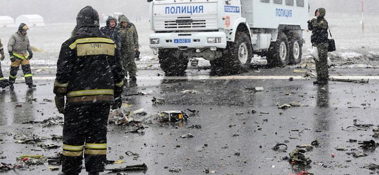 Une soixantaine de morts de le crash d'un avion au sud de la Russie