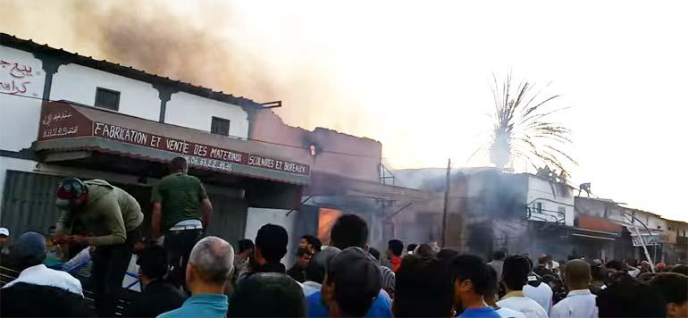 Lourd bilan de l'incendie de Casabarata à Tanger