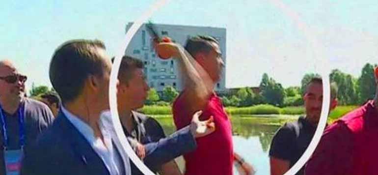 Vidéo : Nerveux, Ronaldo jette le micro d'un journaliste dans un lac