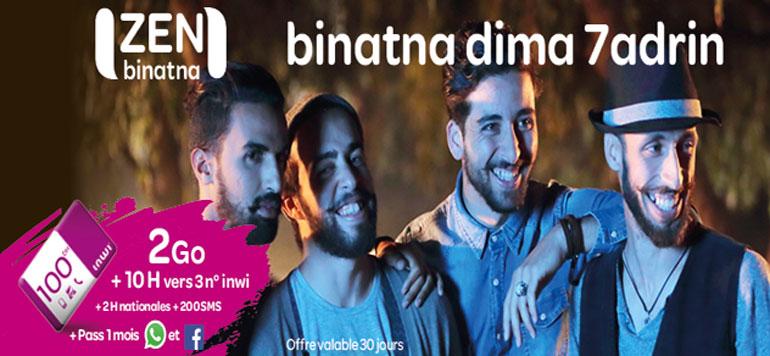 Zen Binatna, le nouveau forfait sans engagement d'Inwi