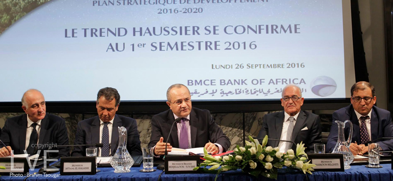 BMCE Bank: le résultat en hausse de 17,5% à fin juin 2016