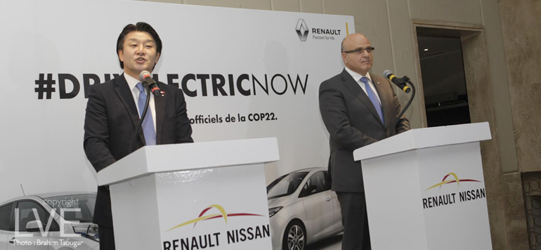 Marrakech : Des voitures Renault et Nissan 100% électriques pour la COP22