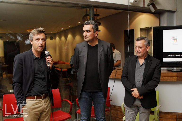ALBAN CORBIER Directeur IFC.Hicham Lahlou Designer et Amine Kabbaj, Président Exécutif de la Biennale