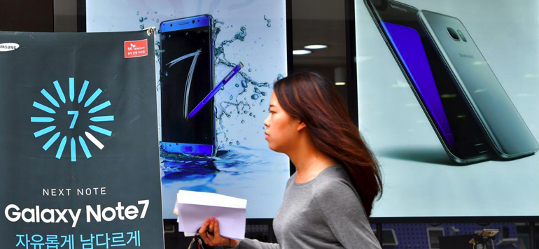 Galaxy Note 7: Samsung poursuit sa chute